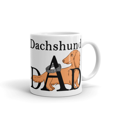 Dachlove.com Dachshund Dad Mug, Mug- Dachshundloversonline  brings together dachshund merchandise, original and unique designed sausage dog gifts, accessories from all around the world.  The perfect addition to your dachshund loving home.  Find it in one store where you can buy them online and free shipping worldwide to your doorstep.