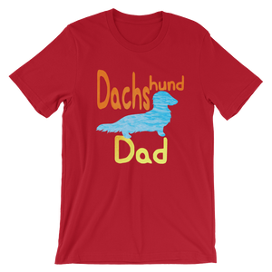 Dachlove.com DACHShund Dad Short-Sleeve T-Shirt for Men Cool Color, T-shirt- Dachshundloversonline  brings together dachshund merchandise, original and unique designed sausage dog gifts, accessories from all around the world.  The perfect addition to your dachshund loving home.  Find it in one store where you can buy them online and free shipping worldwide to your doorstep.