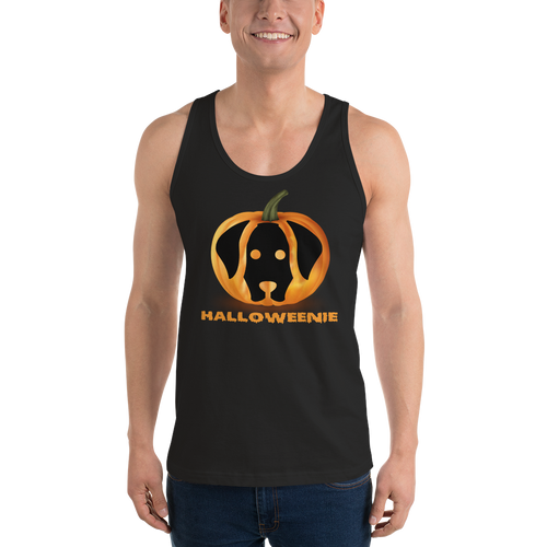 Dachlove.com Halloweenie Pumpkin Classic Unisex Halloween tank top, T-shirt- Dachshundloversonline  brings together dachshund merchandise, original and unique designed sausage dog gifts, accessories from all around the world.  The perfect addition to your dachshund loving home.  Find it in one store where you can buy them online and free shipping worldwide to your doorstep.