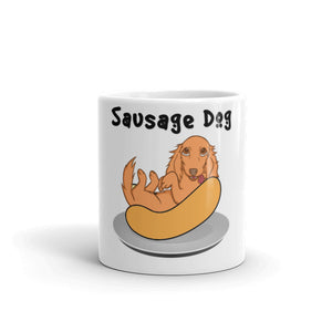Dachlove.com Sausage Hot Dog Mug, Mug- Dachshundloversonline  brings together dachshund merchandise, original and unique designed sausage dog gifts, accessories from all around the world.  The perfect addition to your dachshund loving home.  Find it in one store where you can buy them online and free shipping worldwide to your doorstep.
