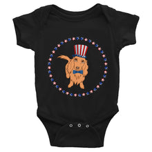 Load image into Gallery viewer, Dachlove.com Independence Day 4th of July Baby Infant Bodysuit, Bodysuit- Dachshundloversonline  brings together dachshund merchandise, original and unique designed sausage dog gifts, accessories from all around the world.  The perfect addition to your dachshund loving home.  Find it in one store where you can buy them online and free shipping worldwide to your doorstep.