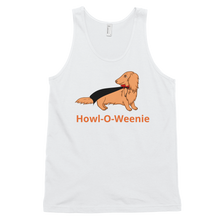 Load image into Gallery viewer, Dachlove.com Haired Dach Vampire Classic Unisex Halloween tank top, T-shirt- Dachshundloversonline  brings together dachshund merchandise, original and unique designed sausage dog gifts, accessories from all around the world.  The perfect addition to your dachshund loving home.  Find it in one store where you can buy them online and free shipping worldwide to your doorstep.