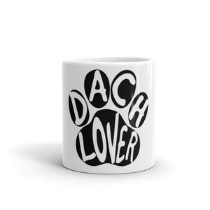 Dachlove.com Dach Lover Coffee Tea Mug, Mug- Dachshundloversonline  brings together dachshund merchandise, original and unique designed sausage dog gifts, accessories from all around the world.  The perfect addition to your dachshund loving home.  Find it in one store where you can buy them online and free shipping worldwide to your doorstep.