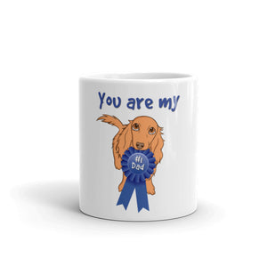 Dachlove.com Dachshund Dad Mug - You are my No.1, Mug- Dachshundloversonline  brings together dachshund merchandise, original and unique designed sausage dog gifts, accessories from all around the world.  The perfect addition to your dachshund loving home.  Find it in one store where you can buy them online and free shipping worldwide to your doorstep.