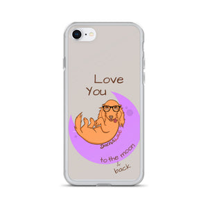 Dachlove.com iPhone Case -  Dachshund Love you to the moon and back, Cases- Dachshundloversonline  brings together dachshund merchandise, original and unique designed sausage dog gifts, accessories from all around the world.  The perfect addition to your dachshund loving home.  Find it in one store where you can buy them online and free shipping worldwide to your doorstep.