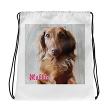 Load image into Gallery viewer, Dachlove.com Customized Drawstring bag, Custom Items- Dachshundloversonline  brings together dachshund merchandise, original and unique designed sausage dog gifts, accessories from all around the world.  The perfect addition to your dachshund loving home.  Find it in one store where you can buy them online and free shipping worldwide to your doorstep.