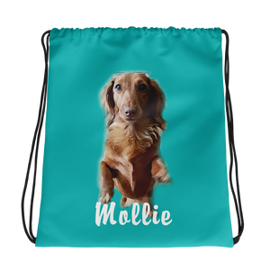 Dachlove.com Customized Drawstring bag, Custom Items- Dachshundloversonline  brings together dachshund merchandise, original and unique designed sausage dog gifts, accessories from all around the world.  The perfect addition to your dachshund loving home.  Find it in one store where you can buy them online and free shipping worldwide to your doorstep.