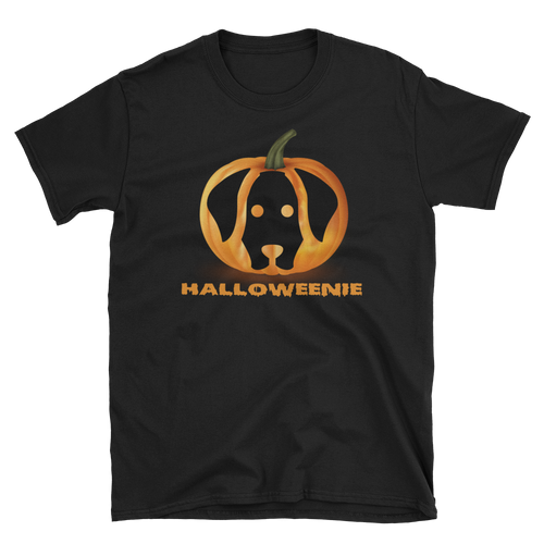 Dachlove.com Halloweenie Pumpkin Halloween Unisex T-Shirt, T-shirt- Dachshundloversonline  brings together dachshund merchandise, original and unique designed sausage dog gifts, accessories from all around the world.  The perfect addition to your dachshund loving home.  Find it in one store where you can buy them online and free shipping worldwide to your doorstep.