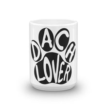 Load image into Gallery viewer, Dachlove.com Dach Lover Coffee Tea Mug, Mug- Dachshundloversonline  brings together dachshund merchandise, original and unique designed sausage dog gifts, accessories from all around the world.  The perfect addition to your dachshund loving home.  Find it in one store where you can buy them online and free shipping worldwide to your doorstep.