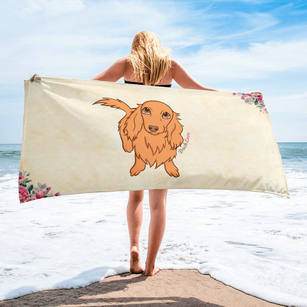 Dachlove.com Mollie's Summer Collection 2018 Towel, Towel- Dachshundloversonline  brings together dachshund merchandise, original and unique designed sausage dog gifts, accessories from all around the world.  The perfect addition to your dachshund loving home.  Find it in one store where you can buy them online and free shipping worldwide to your doorstep.