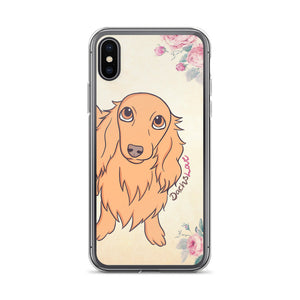 Dachlove.com iPhone Case Beautiful Dachshund Bouquet Pink Roses, Cases- Dachshundloversonline  brings together dachshund merchandise, original and unique designed sausage dog gifts, accessories from all around the world.  The perfect addition to your dachshund loving home.  Find it in one store where you can buy them online and free shipping worldwide to your doorstep.
