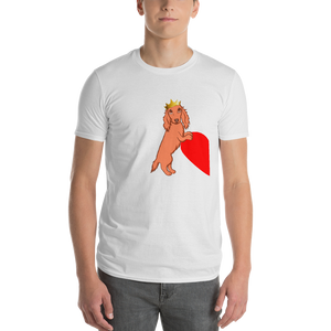 Dachlove.com King Dachshund Short-Sleeve T-Shirt, T-shirt- Dachshundloversonline  brings together dachshund merchandise, original and unique designed sausage dog gifts, accessories from all around the world.  The perfect addition to your dachshund loving home.  Find it in one store where you can buy them online and free shipping worldwide to your doorstep.