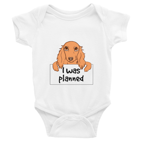 Dachlove.com I was Planned Twin Baby Infant Bodysuit, Bodysuit- Dachshundloversonline  brings together dachshund merchandise, original and unique designed sausage dog gifts, accessories from all around the world.  The perfect addition to your dachshund loving home.  Find it in one store where you can buy them online and free shipping worldwide to your doorstep.