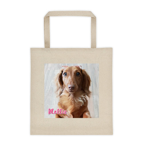Dachlove.com Customized Photo Tote bag, Custom Items- Dachshundloversonline  brings together dachshund merchandise, original and unique designed sausage dog gifts, accessories from all around the world.  The perfect addition to your dachshund loving home.  Find it in one store where you can buy them online and free shipping worldwide to your doorstep.