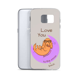 Dachlove.com Samsung Case - Love you to the moon & back, Cases- Dachshundloversonline  brings together dachshund merchandise, original and unique designed sausage dog gifts, accessories from all around the world.  The perfect addition to your dachshund loving home.  Find it in one store where you can buy them online and free shipping worldwide to your doorstep.