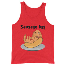 Load image into Gallery viewer, Dachlove.com Sausage Dog Unisex  Tank Top, T-shirt- Dachshundloversonline  brings together dachshund merchandise, original and unique designed sausage dog gifts, accessories from all around the world.  The perfect addition to your dachshund loving home.  Find it in one store where you can buy them online and free shipping worldwide to your doorstep.