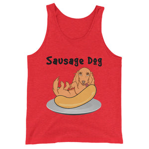 Dachlove.com Sausage Dog Unisex  Tank Top, T-shirt- Dachshundloversonline  brings together dachshund merchandise, original and unique designed sausage dog gifts, accessories from all around the world.  The perfect addition to your dachshund loving home.  Find it in one store where you can buy them online and free shipping worldwide to your doorstep.