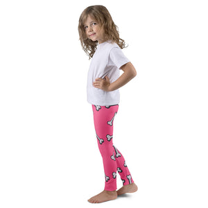 Dachlove.com Pink Bones Kid's leggings, Leggings- Dachshundloversonline  brings together dachshund merchandise, original and unique designed sausage dog gifts, accessories from all around the world.  The perfect addition to your dachshund loving home.  Find it in one store where you can buy them online and free shipping worldwide to your doorstep.
