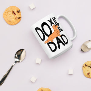 Dachlove.com Doxie Dad Mug, Mug- Dachshundloversonline  brings together dachshund merchandise, original and unique designed sausage dog gifts, accessories from all around the world.  The perfect addition to your dachshund loving home.  Find it in one store where you can buy them online and free shipping worldwide to your doorstep.