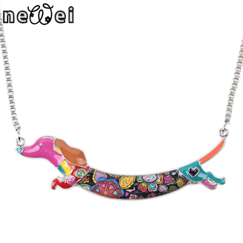 Dachlove.com Women Dachshund Necklace Fashion Statement - Multicolor, Accessories- Dachshundloversonline  brings together dachshund merchandise, original and unique designed sausage dog gifts, accessories from all around the world.  The perfect addition to your dachshund loving home.  Find it in one store where you can buy them online and free shipping worldwide to your doorstep.