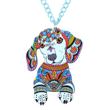 Load image into Gallery viewer, Dachlove.com Jewelry Acrylic Necklace Cartoon Dachshund Dog Pendant Chain Collar Choker 2018, Accessories- Dachshundloversonline  brings together dachshund merchandise, original and unique designed sausage dog gifts, accessories from all around the world.  The perfect addition to your dachshund loving home.  Find it in one store where you can buy them online and free shipping worldwide to your doorstep.