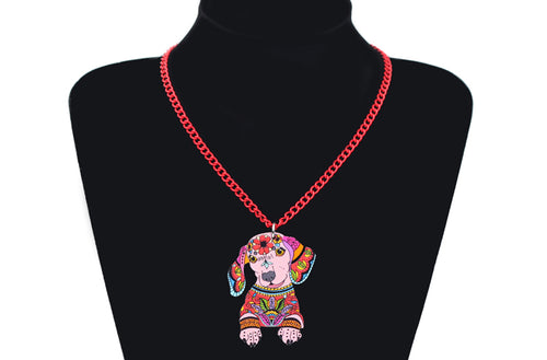 Dachlove.com Jewelry Acrylic Necklace Cartoon Dachshund Dog Pendant Chain Collar Choker 2018, Accessories- Dachshundloversonline  brings together dachshund merchandise, original and unique designed sausage dog gifts, accessories from all around the world.  The perfect addition to your dachshund loving home.  Find it in one store where you can buy them online and free shipping worldwide to your doorstep.