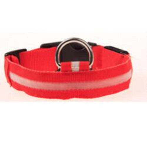 Dachlove.com Dach Love Safety LED Glow Nylon Collar Bright Red, collar- Dachshundloversonline  brings together dachshund merchandise, original and unique designed sausage dog gifts, accessories from all around the world.  The perfect addition to your dachshund loving home.  Find it in one store where you can buy them online and free shipping worldwide to your doorstep.