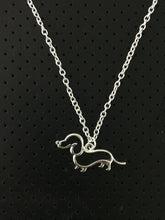 Load image into Gallery viewer, Dachlove.com New Cute Little Dachshund  Silver Necklace, Accessories- Dachshundloversonline  brings together dachshund merchandise, original and unique designed sausage dog gifts, accessories from all around the world.  The perfect addition to your dachshund loving home.  Find it in one store where you can buy them online and free shipping worldwide to your doorstep.