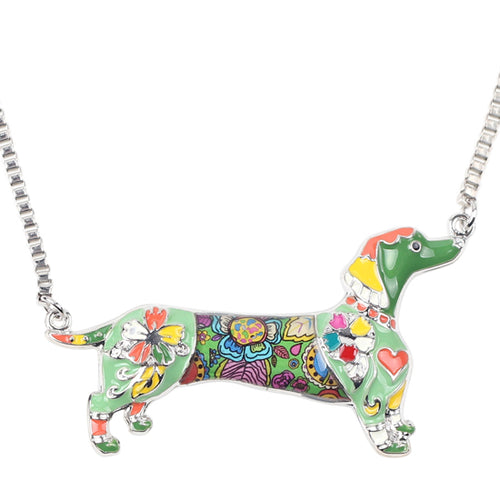 Dachlove.com Jewelry - Statement Metal Alloy Enamel Dachshund Choker, Accessories- Dachshundloversonline  brings together dachshund merchandise, original and unique designed sausage dog gifts, accessories from all around the world.  The perfect addition to your dachshund loving home.  Find it in one store where you can buy them online and free shipping worldwide to your doorstep.