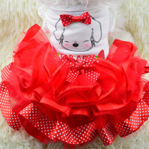 Dachlove.com Red Dress Dog Pet Clothes Fruit Design, Dog Fashion- Dachshundloversonline  brings together dachshund merchandise, original and unique designed sausage dog gifts, accessories from all around the world.  The perfect addition to your dachshund loving home.  Find it in one store where you can buy them online and free shipping worldwide to your doorstep.