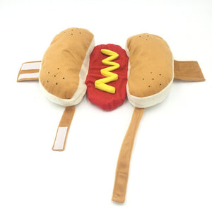 Dachlove.com Hot Dog Costume, costume- Dachshundloversonline  brings together dachshund merchandise, original and unique designed sausage dog gifts, accessories from all around the world.  The perfect addition to your dachshund loving home.  Find it in one store where you can buy them online and free shipping worldwide to your doorstep.