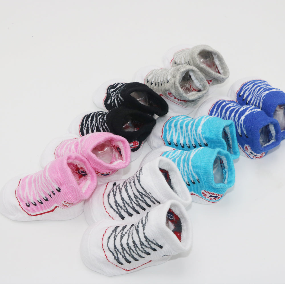 1 pair Non-slip rubber-soled Cartoon Baby Socks Newborn Unisex Anti-slip Shoes Boots Wholesale Dropship - Shopcart50