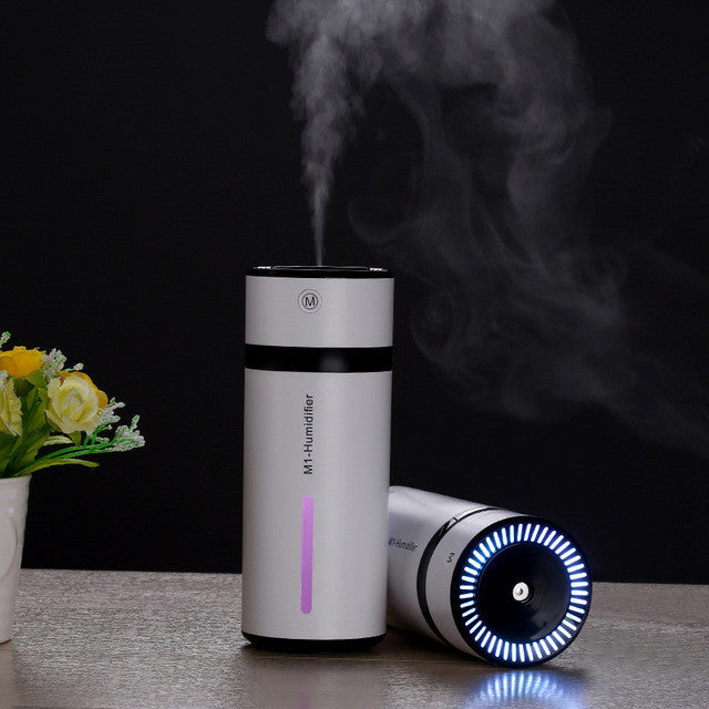 230ML Ultrasonic Humidifier USB Car Humidifier Mini Aroma Essential Oil Diffuser Aromatherapy Mist Maker Home Office - Shopcart50