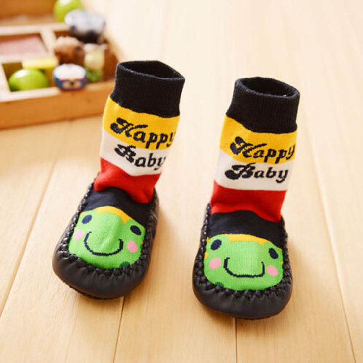 Baby Cartoon Unisex Toddler Anti-slip Short Sock Kids Warm Cotton Socks - Shopcart50