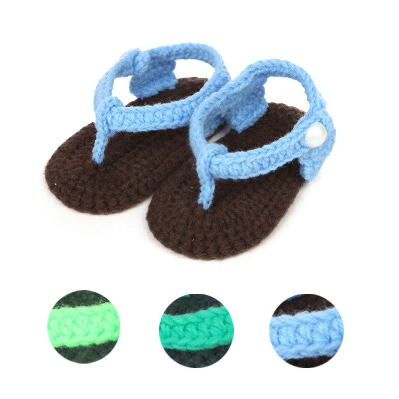 Baby girls boys shoes sandals summer 2017 Crib Crochet Baby Girls Boys Handmade Knit Sock Clip Toe Infant Shoes - Shopcart50