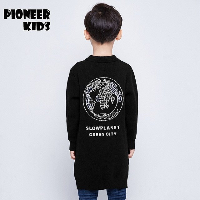 Pioneer Kids Top quality children outwear teeage boys cardigan fashion boys sweaters casual autumn winter clothing kids sweater