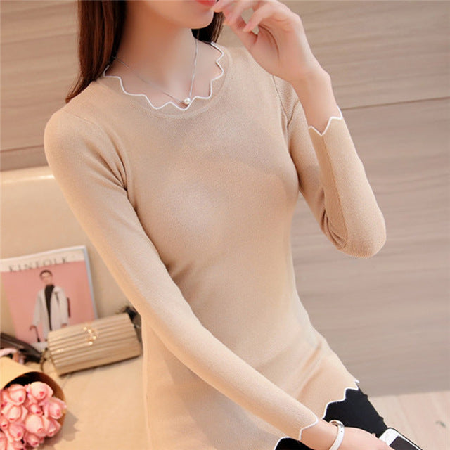 Chompas de mujer para el invierno 2018 Autumn Winter Women Sweaters and Pullovers Long Sleeve Knitting Sueter Mujer Pull Femme