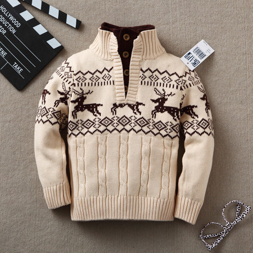 Baby Sweaters  Kids Boys Spring Autumn Infant Cardigan for Girl Sweaters Baby Turtleneck Knitting Clothing Children Outerwear