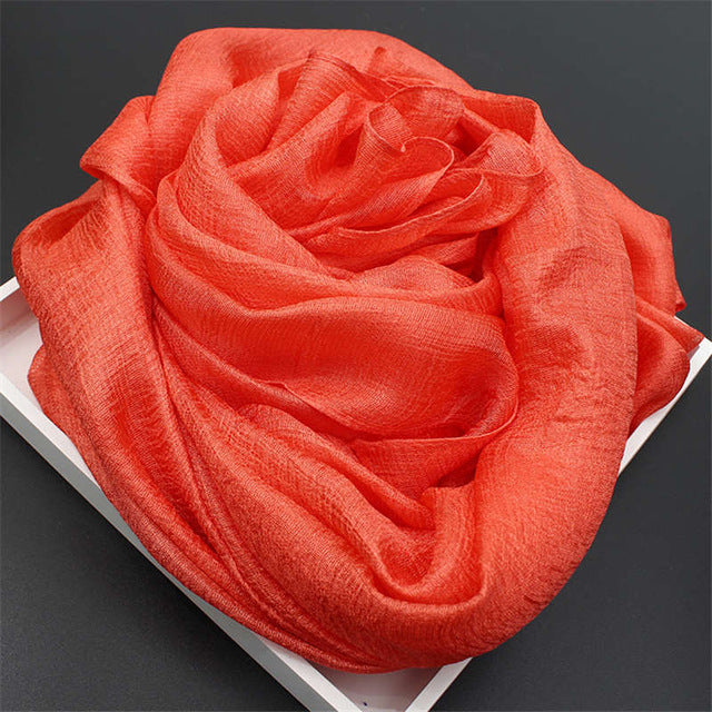 YOUHAN 2018 Fashion Women Scarf Pure Color Luxury Brand Scraf Female Shawl Ladies Scarves Travel Beach Pashmina Shawl Foulard