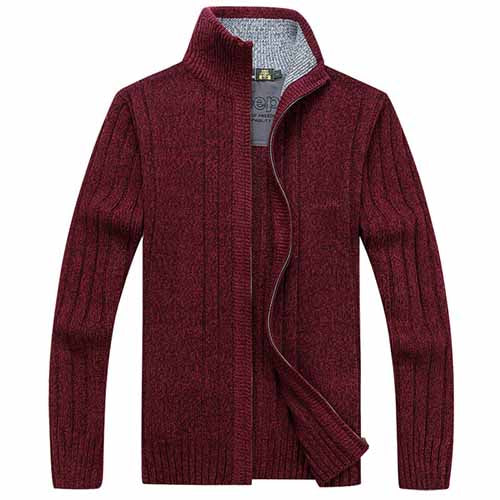 AFS jeep Free shipping Men Sweaters Famous Brand Zipper Knitted Cardigan for Men Winter Turtleneck Cardigan Man Knitwear 93zr