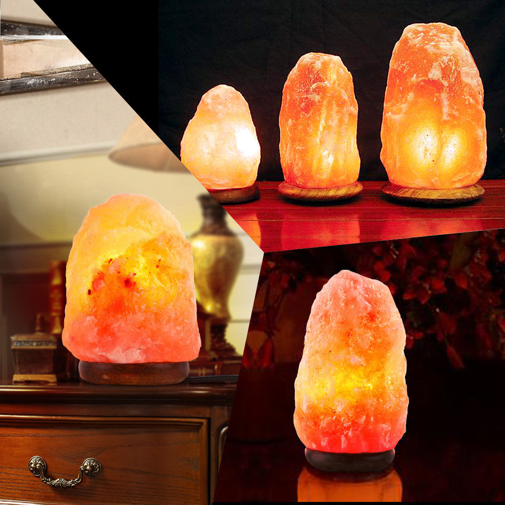 110V Himalayan Natural Air Purifier Salt Lamp Rock Crystal Tower Dimmer Switch - Shopcart50