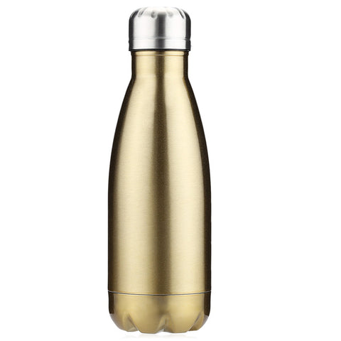350ML/500ML Thermos Bottle Outdoor Sports Insulation Stainless Steel Double Wall Drink Water Cup Bullet Shaped Vacuum Bottle