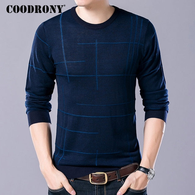 COODRONY Soft Cashmere Sweaters O-Neck Wool Pullovers 2018 Autumn Winter Warm Sweater Men Brand Clothing Plus Size Pull Homme 65