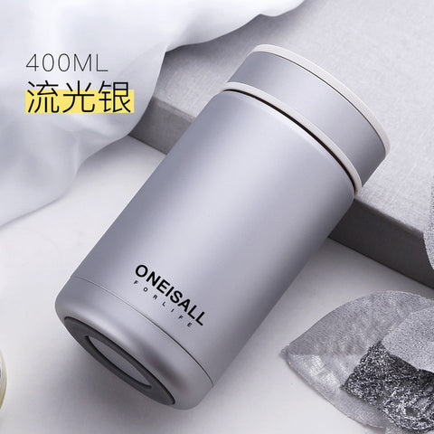 400ML Coffee Thermos Bottle Thermo Mug Thermocup Insulated Vacuum Cup Glass Tumbler Thermal Flask with Filter Thermal Coffee Mug