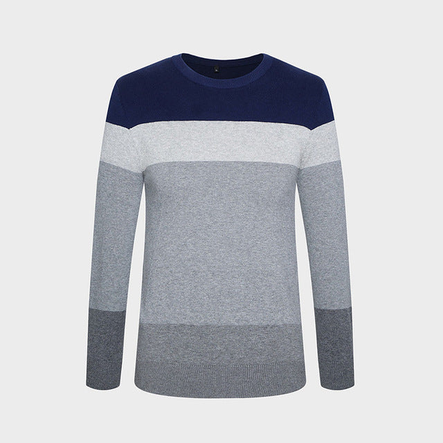 2018 New Autumn Winter Fashion Brand Clothing Men's Sweaters O-Neck Slim Fit Men Pullover 100% Cotton Knitted Sweater Men M-5XL