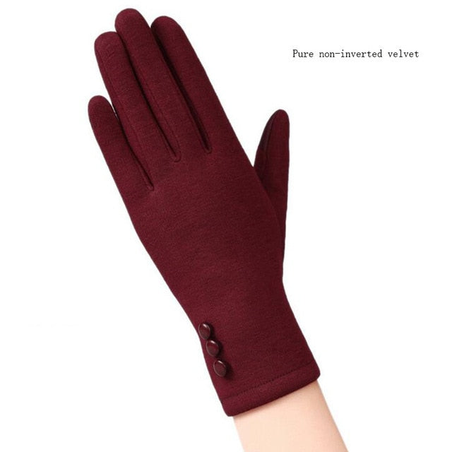 2017 New Elegant Plush Female Gloves Winter Sports Fitness Women Phone Touch Screen Wrist Mittens Gloves Guantes Mujer 13C