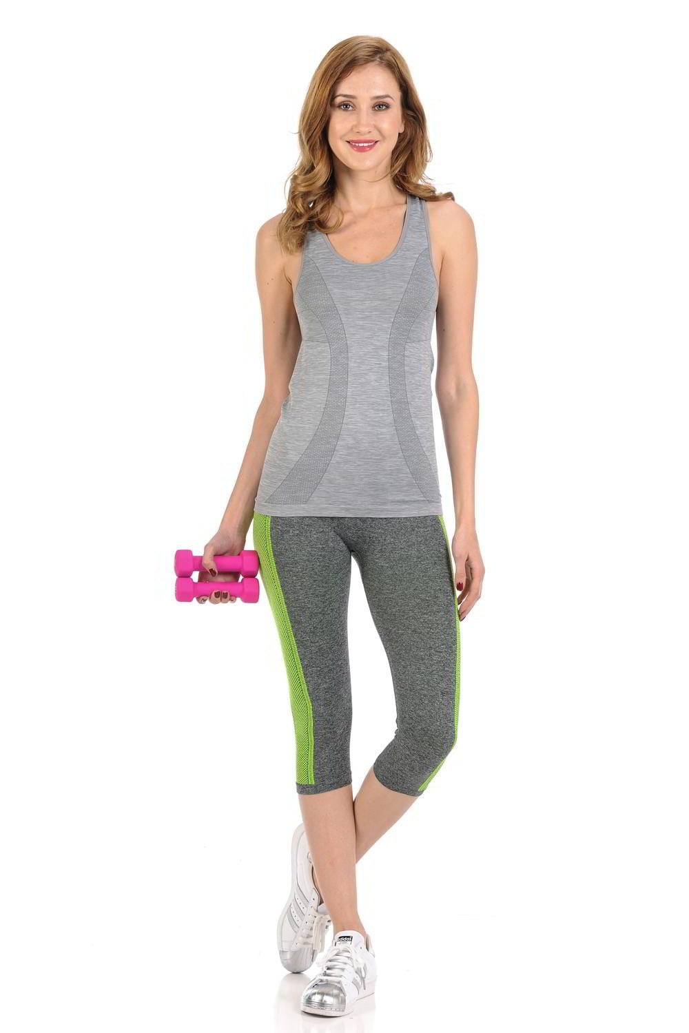 Diamante Women's Power Flex Yoga Pant Legging Sportswear - ACDN003