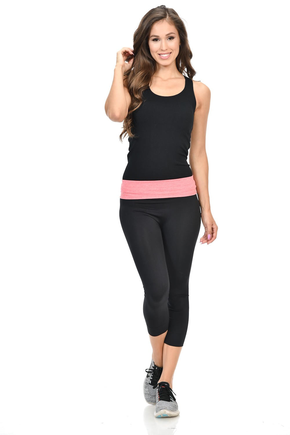 Diamante Women's Power Flex Yoga Pant Legging Sportswear - P162021