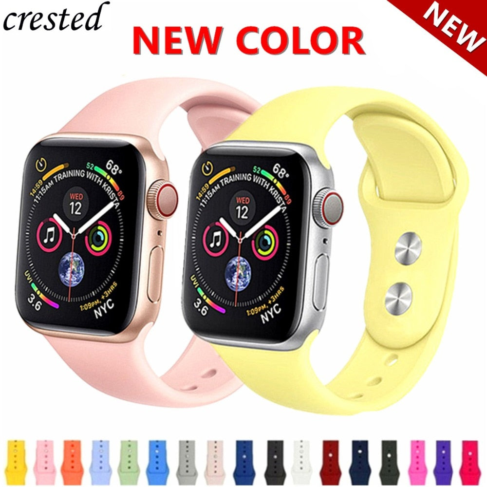 Strap For Apple Watch band 4 iWatch band 38mm 42mm 44 mm 40mm Silicone correa watchband Bracelet Apple watch 4 3 21 Accessories