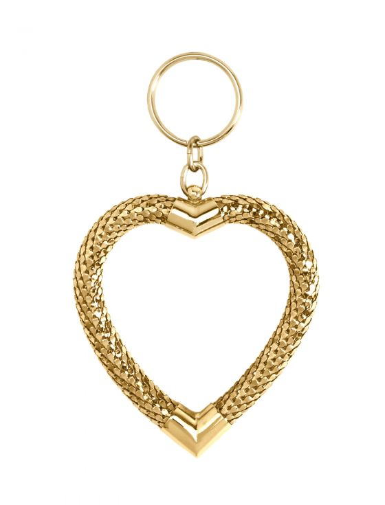 Large Heart Key Ring